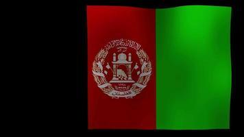 vídeo de stock de bucle de movimiento de 4k de bandera de Afganistán