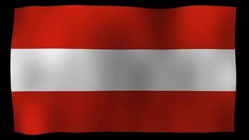 bandiera dell'austria 4k motion loop archivi video