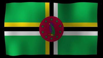 bandiera dominica 4k motion loop archivi video