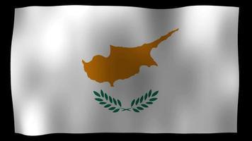 bandiera di cipro 4k motion loop archivi video