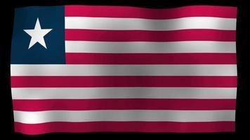 liberia flag 4k motion loop stock video