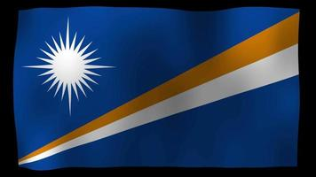 The Marshall Islands Flag 4K Motion Loop Stock Video