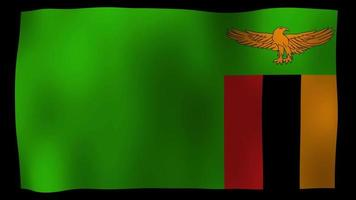 Zambia flag 4k motion loop stock video