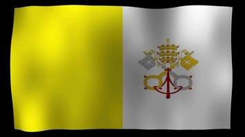 The Vatican City Flag 4K Motion Loop Stock Video