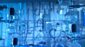 tubos de vidro em um laboratório