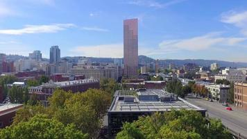 Drone Footage of Downtown Portland  video