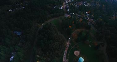 vista aérea de un pequeño parque