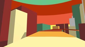 siga o caminho colorido fundo de movimento 3d