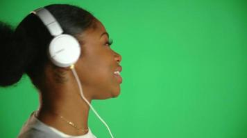 Young African American Woman Headphones 4