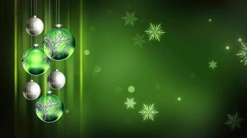 enfeites verdes 4k natal movimento fundo loop