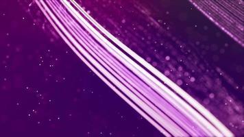 bucle de líneas brillantes que forman varias cuadrículas flotando sobre fondo púrpura 4k