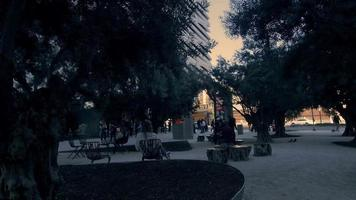 foto de rastreamento do parque no centro de los angeles em 4k