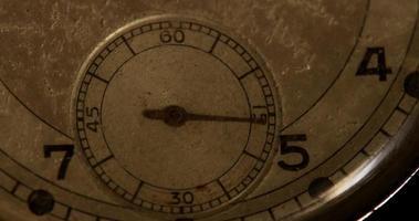 close up do ponteiro do relógio de segundos movendo-se 60 segundos, começando no segundo 15 em um lapso de tempo de 4k video