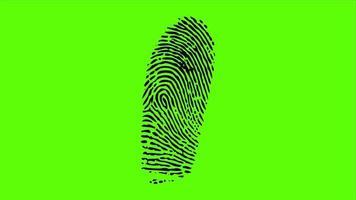 impressão digital tela verde video