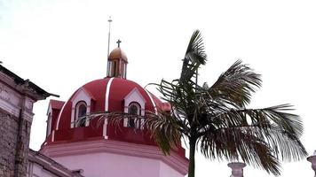 Church Dome And Palm In Cuetzalan Puebla