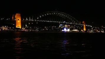 ponte do porto à noite 4k video
