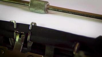 máquina de escrever assinar obrigado siga-nos video