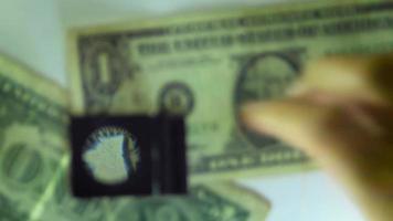 détail du numéro de série d'un billet d'un dollar