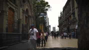Time Lapse Of People Walking Near The Main Square Of Mexico City