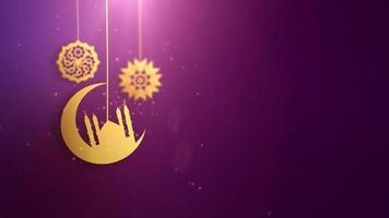 símbolos árabes ramadan ramazan eid mubarak caindo sobre fundo rosa