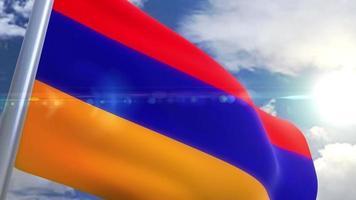 Waving flag of Armenia Animation