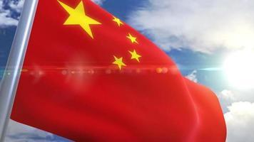 Waving flag of China Animation