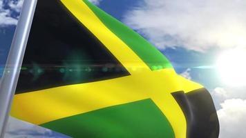 Waving flag of Jamaica Animation