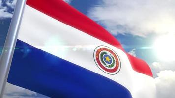 Bandeira do Paraguai video