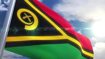 agitando bandeira de animação vanuatu video