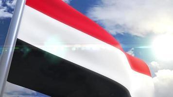 animação da bandeira do Iémen video