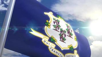 Bandeira do estado de Connecticut eua