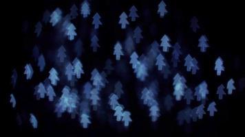 luces de bokeh de árbol azul video