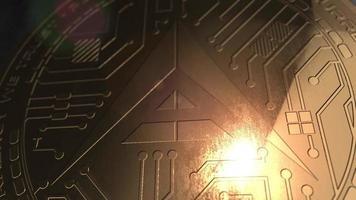 crypto currency ark coin renderização em 3d blockchain