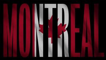 Kanada Flagge mit Montreal Maske
