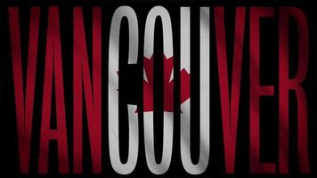 Kanada-Flagge mit Vancouver-Maske