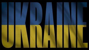 ukrainische Flagge mit ukrainischer Maske
