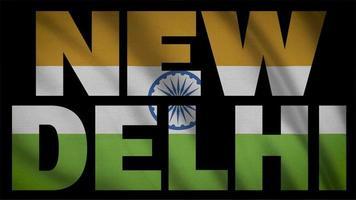 Indien Flagge mit neuer Delhi Maske