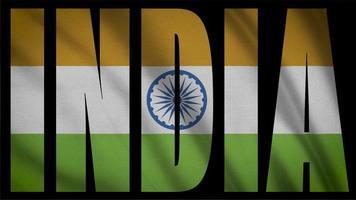 Indien Flagge mit Indien Maske
