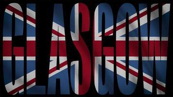 bandeira do Reino Unido com máscara de glasgow video