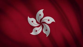 bandeira de hong kong video