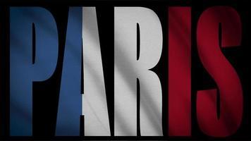 Frankreich Flagge mit Paris Maske