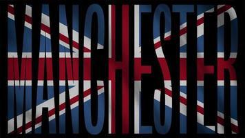 bandeira do Reino Unido com máscara de Manchester video