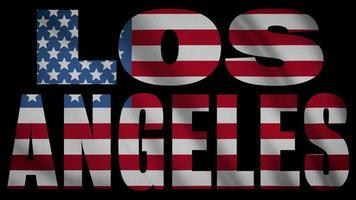 USA Flagge mit Los Angeles Maske