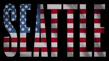 bandera de estados unidos con máscara de seattle