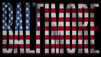 bandera de estados unidos con máscara de baltimore