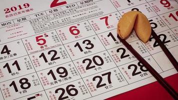Cerca de mujer colocando un cerdito dorado en el calendario