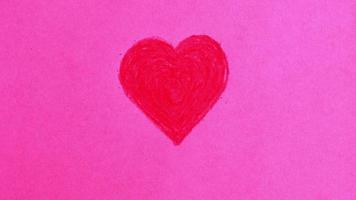 crayon coração parar movimento