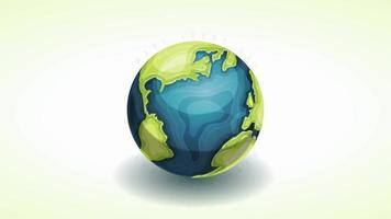Happy Earth Day Banner Animationskarte