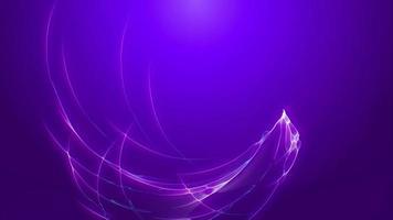 animação abstrata fantástica de linhas elétricas da web video