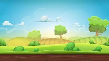 Cartoon Country Landscape Animation Loop
